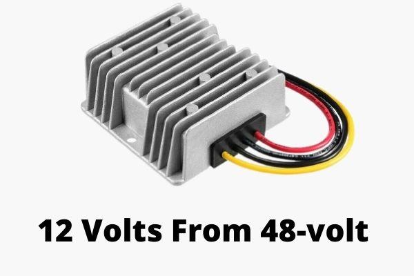 12 Volts From 48-volt